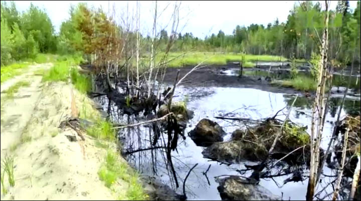 Oil spill in Nizhnevartovsk