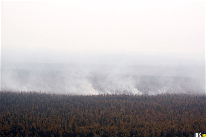 Wildfires in Irkutsk region