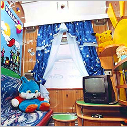 Children playroom on board of Altai train