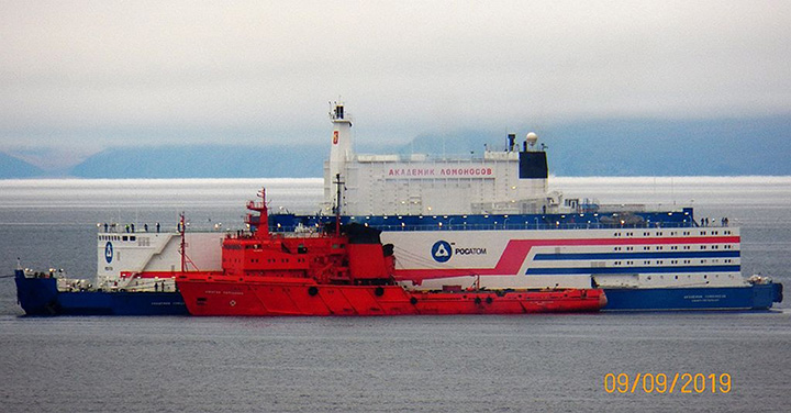Akademik Lomonosov arrived in Pevek
