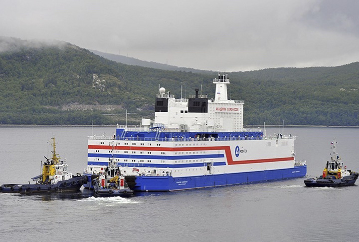 Akademik Lomonosov departed from Murmansk
