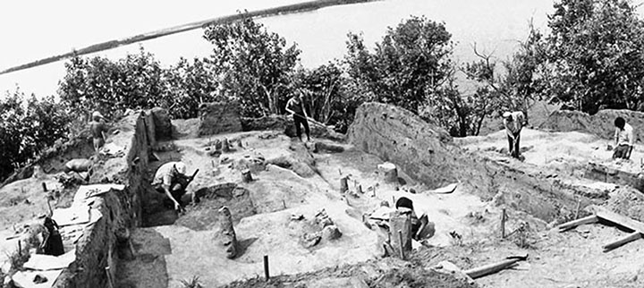 Gasya excavations in 1980