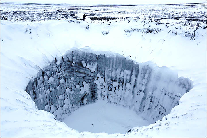 Exclusive new pictures INSIDE mystery Siberian crater