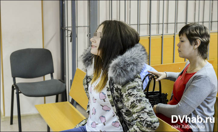 Alyona Savchenko in the court room